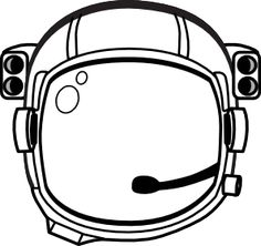 Astronaut S Helmet clip art - vector clip art online, royalty free ...