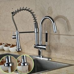 69.54$ Buy Here   Http://alioeq.worldwells.pw/go.php?tu003d32663802759   Luxury Hands  Free Double Spout Kitchen Sink Faucet One Handle Deck Mounted With Hot And  ...