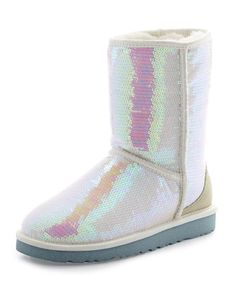 I+Do!+Sparkles+Tall+Boot,+White+by+UGG+Australia+at+Neiman+Marcus.