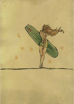 Ocean Inspired Art by surfer/ artist Christie Rigby