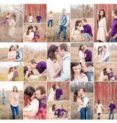 Romantic engagement session. Barn session. Field session.