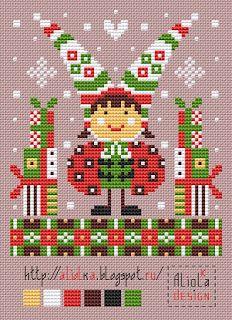 Мои творилки *** Aliolka design: в Букашкин год спешат Cross Stitch Designs, Cross Stitch Patterns, Beading Patterns, Crochet Patterns, Christmas Cross, Christmas Ornaments, Handmade Crafts, Sewing Crafts, Needlework