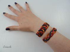 Bracelet aluminium rouge noir orange par Creacile sur Etsy