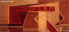 """Mario Radice - Opere - """"Comp. G.R.U. 31"""", 1961, tempera, cm 25x35...."""