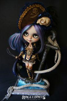 Lady Buccaneer OOAK Custom Blythe Art Doll 2013.  more photos---> http://www.theroguedolls.com/portfolio/custom_blythe_pirate/