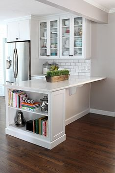 I want a shallow shelving unit like this on one side of my kitchen island (facing dishwasher)