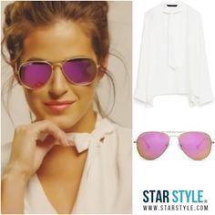 JoJo wearing Zara and Diff  Shopping info on www.starstyle.com  #jojofletcher  #diffeyewear #zara #celebritystyle #style #fashion #ootd #lotd #fashionblog #streetstyle #starstyle #celebrityfashion #jojo #thebachelorette #celebrity #styleblog #sunglasses #mirroredsunglasses