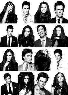 The Vampire Diaries Nina Dobrev(Elena/Katherine/Amara etc. Vampire Diaries Damon, Vampire Diaries The Originals, Vampire Daries, Vampire Diaries Seasons, Elena Gilbert, Delena, Nina Dobrev, Cw Series, Best Series
