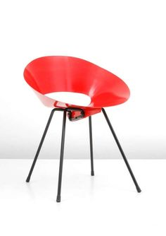 Donald Knorr; Enameled Steel '132 U' Chair for Knoll Associates, 1948.