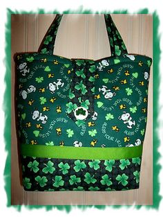 Peanuts SNOOPY St Patricks Day Pat's purse tote bag Bless Your Irish Heart LG