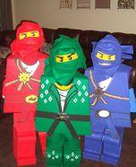 Homemade LEGO Ninjago Costumes