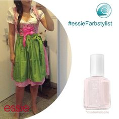 Mit dieser Farbkombination liegst du ja absolut im Trend, jetzt wird es Zeit für einen feschen Buam im farblich passenden Hemd. Bist du ein #Wiesnmadl mit Attitüde und Lackfarbe (einer) #mademoiselle geht das bestimmt ganz schnell #essieFarbstylist  #Oktoberfest