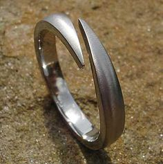 Unique Titanium Wedding Ring | LOVE2HAVE in the UK! Titanium Engagement Rings, Titanium Wedding Rings, Titanium Rings, Split Design, About Uk, Unique Weddings, Jewelry Rings, Rings For Men, British