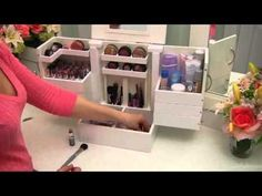 Luxury Deluxe Wood Cosmetic Box By Lori Greiner- Item #H165015