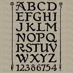 Alphabet Letters Art Nouveau Printable Digital by DigitalThings, $1.00