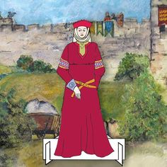 Nicolaa de la Haye Lady Castellan of Lincoln Castle Battle of Lincoln Dressing Up Dolls Pack, Lincoln Castle, Lincoln Cathedral, La Haye, Unique Cards, Design Your Own, Knights, Paper Dolls, Battle, Trail