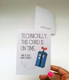Doctor Who belated birthday card Technically this by AllyElleCards