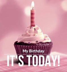 It's my birthday ^^ Happy Birthday To Me Quotes, Happy Birthday Wishes Cake, Birthday Girl Quotes, Birthday Blessings, Birthday Wishes Quotes, My Birthday Pictures, Its My Birthday Month, Todays Birthday, 28th Birthday