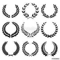Vettoriale: Laurel Wreaths