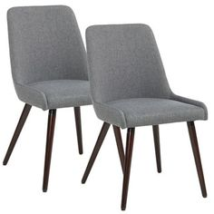 Cecelia Espresso Wingback Dining Chair by MID-CENTURY LIVING (Set of 2) | Overstock.com Shopping - The Best Deals on Dining Chairs