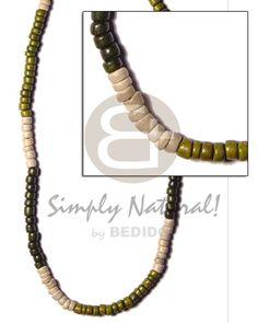 4-5 Coco Pokalet Green Tones Alt. Teens Necklace