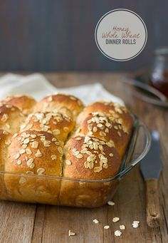 Honey Whole Wheat Dinner Rolls -  soft, tender, and fluffy bread rolls with a hint of honeyed sweetness.   brighteyedbaker.com