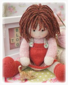 Chrystal: Toy/ Doll Knitting Pattern/ Knitted por maryjanestearoom