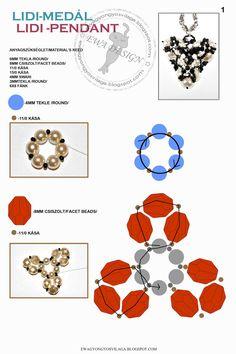 MATERIALE:   sfaccettate 8 mm   perle 6 mm   perle 3 mm   biconi 4 mm   sfere schiacciate 6x8 mm   mini gocce   rocailles 11/...