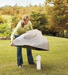 USA-Made Medium Mock Rock®. For the front yard water cover?