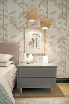 Michele Throssell Interiors > girls bedroom > pastels > Victoria Verbaan artwork