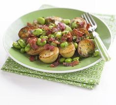 Fried new potatoes with Parma ham  broad beans recipe - Recipes - BBC Good Food