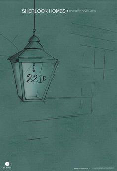 Sherlock Holmes - Minimalist Illustration (via Zeroing Down) Sherlock Poster, Sherlock Holmes, Famous Detectives, Jazz Poster, 221b Baker Street, Alternative Movie Posters, Johnlock, Martin Freeman, Cat Tattoo