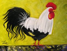 """""""Cocky"""" 16X20"""" Oil on Stretched Canvas Frame $195 – ***Own a Zoe!***  SOLD"""