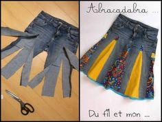 Recycler un jean en jupe le tutoriel création
