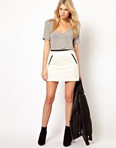 Image 1 ofOasis Boucle Skirt