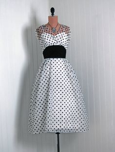 can't resist those polka dots… vintage 1950s dress @timelessvixenvintage on etsy