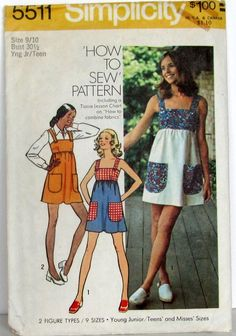 Vintage 70's Simplicity 5511 Boho Jumper Mini - I Made this in Home Economics in 7th grade!
