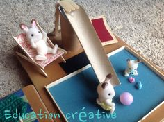 #DIY d'une air de jeu pour les #SylvanianFamilies par #educationcréative