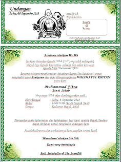Contoh Surat Undangan Tasyakuran Walimatul Khitan Word Siap Edit Download Con... Microsoft Word 2010, Microsoft Excel, Microsoft Office, Indonesian Language, Cv Design Template, Wedding Invitation Background, Wedding Album Design, Hypebeast Wallpaper, Id Design