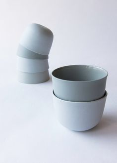 1 Colored porcelain cup, ELEPHANT GRAY, modern oval handmade ceramic cup, small cup, via Etsy.