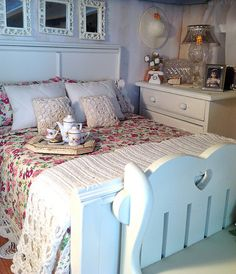 Today I decided it was time to help Lana tidy her room. She's a collector of everything..lol, and has two white cats. She's such a Diva. Shabby Chic is her decor of choice, or maybe it's mine...lol   by RFB Designs by Peggy