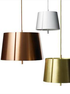Copper Pendant lamp W124S by Wästberg   #Design Jonas Lindvall #metal