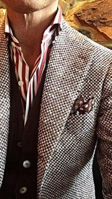 Men& Casual Wear - Pattern Game and Details - - Sharp Dressed Man, Well Dressed Men, Business Casual Men, Men Casual, Casual Wear, Cooler Look, Estilo Fashion, Suit And Tie, Gentleman Style