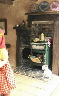 miniature indoor wood stove