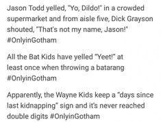 im losing my shit its too late at night for this Dc Memes, Marvel Memes, Marvel Dc Comics, Gotham Comics, I Am Batman, Batman Robin, Gotham Batman, Batman Art, Batman Universe