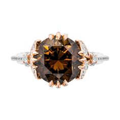 """JewelryConnoisseur by Rapaport on Instagram: """"[RAPNET JEWELRY] This week's selection from @rapnetdiamondtrading is this exceptional 18-karat rose gold and platinum cocktail ring set…"""" Orange Brown, Gold Platinum, 18k Rose Gold, Cocktail Rings, Colored Diamonds, Art Pieces, Stud Earrings, Fancy, Custom Design"""
