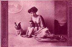 Elisabeth, née archiduchesse d'Autriche, et sa fille, princesse Stéphanie zu Windisch-Graetz