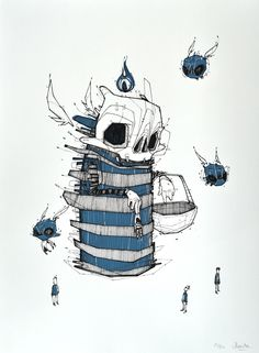 Picking - screenprint by Monsta , via Behance // I'm going to draw tonight even if that means I'm up until 4 am //