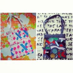 Two one of a kind totes left at christianjoy.us.com! ★★★ #christianjoy #totebag #prints