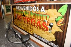 Las vegas restaurant sign  Sierpe, Costa Rica